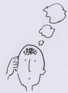 Scratching head doodle